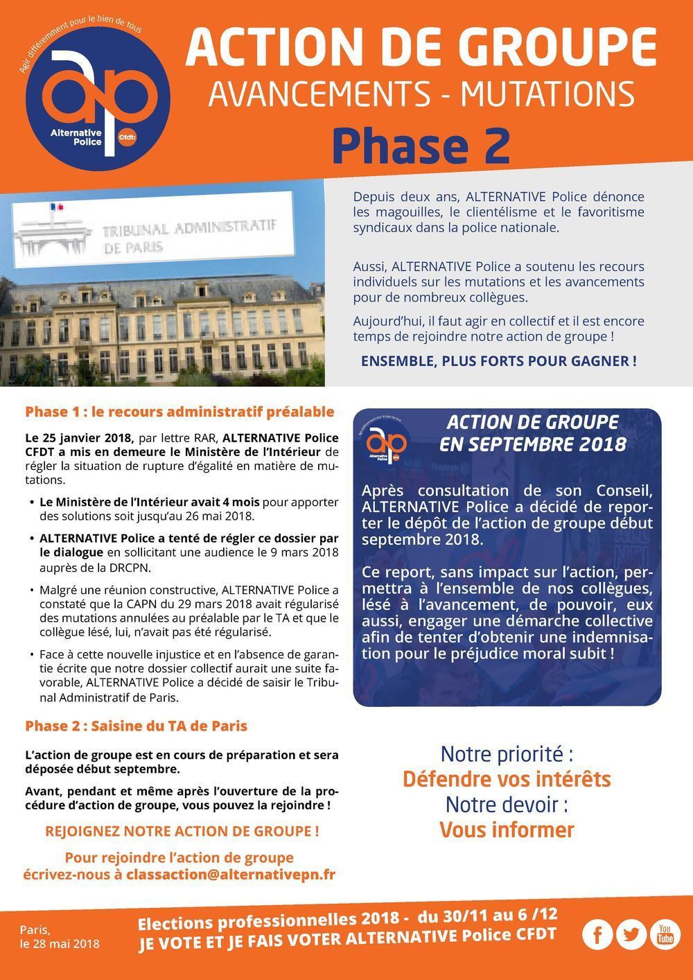Action de groupe - Phase 2