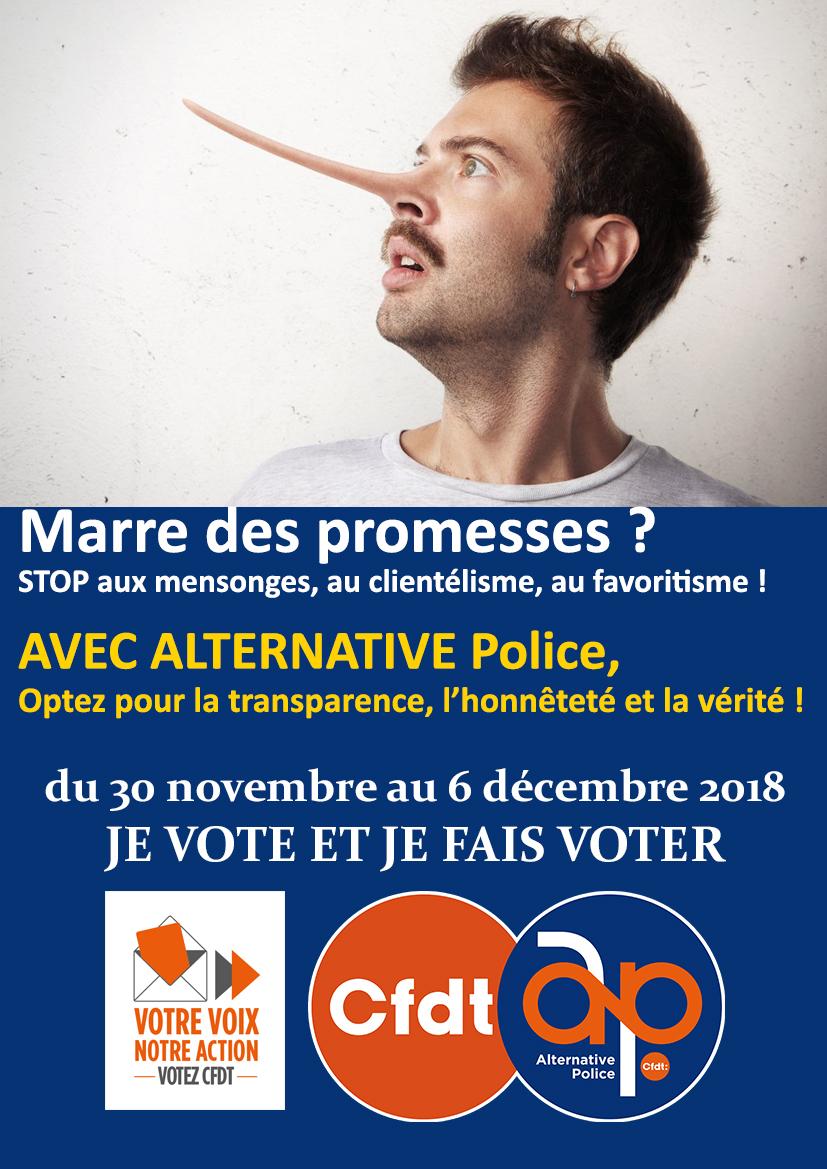 Marre des promesses ? Avec Alternative Police optez pour la transparence !