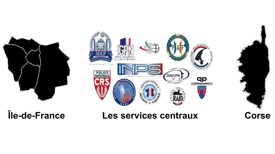 ILE-DE-FRANCE, SERVICES CENTRAUX & CORSE