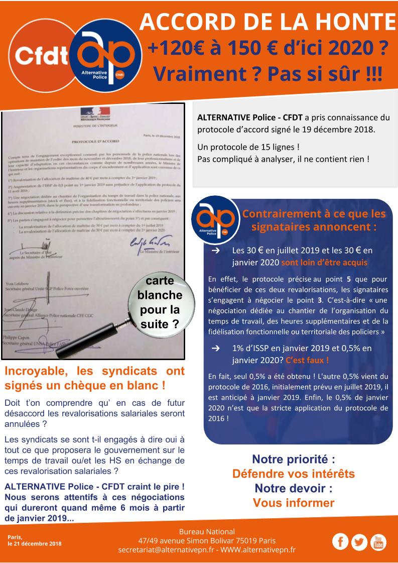ACCORD DE LA HONTE : +120€ à 150 € d'ici 2020 ?
