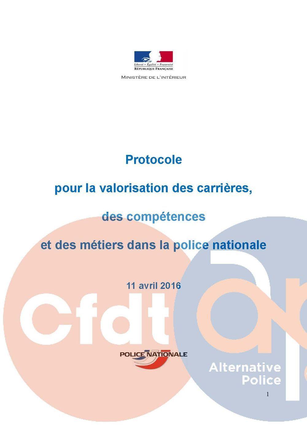 Protocole du 11 avril 2016