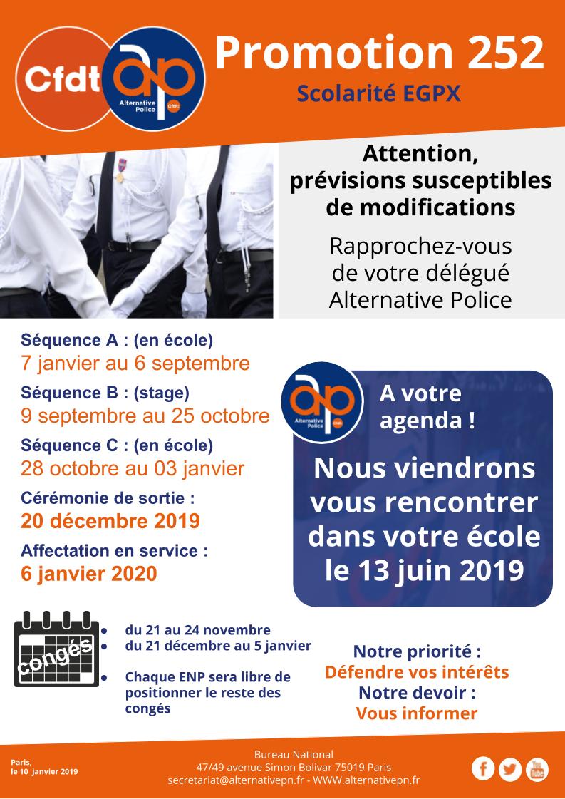 Promotion 252 : Scolarité EGPX