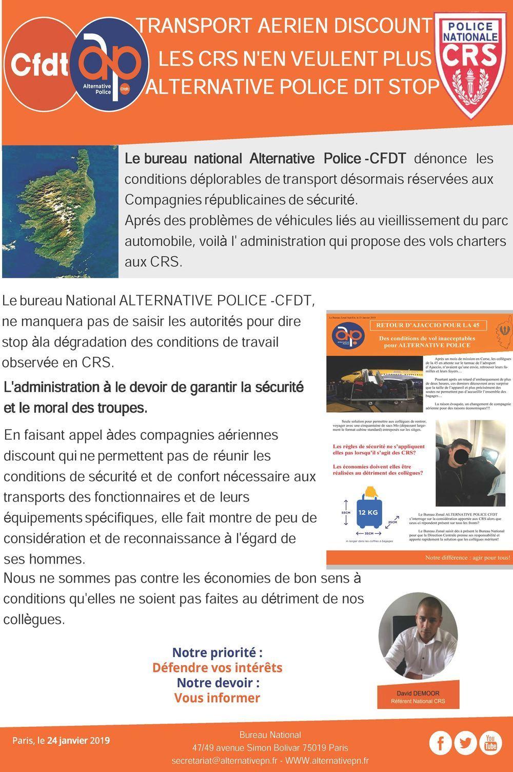 Transport des CRS en Corse