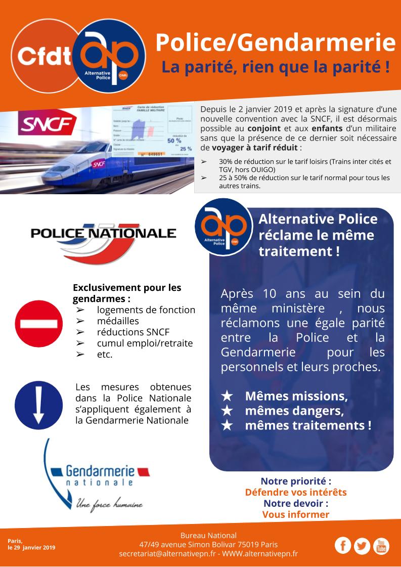 Police/Gendarmerie : La parité, rien que la parité !