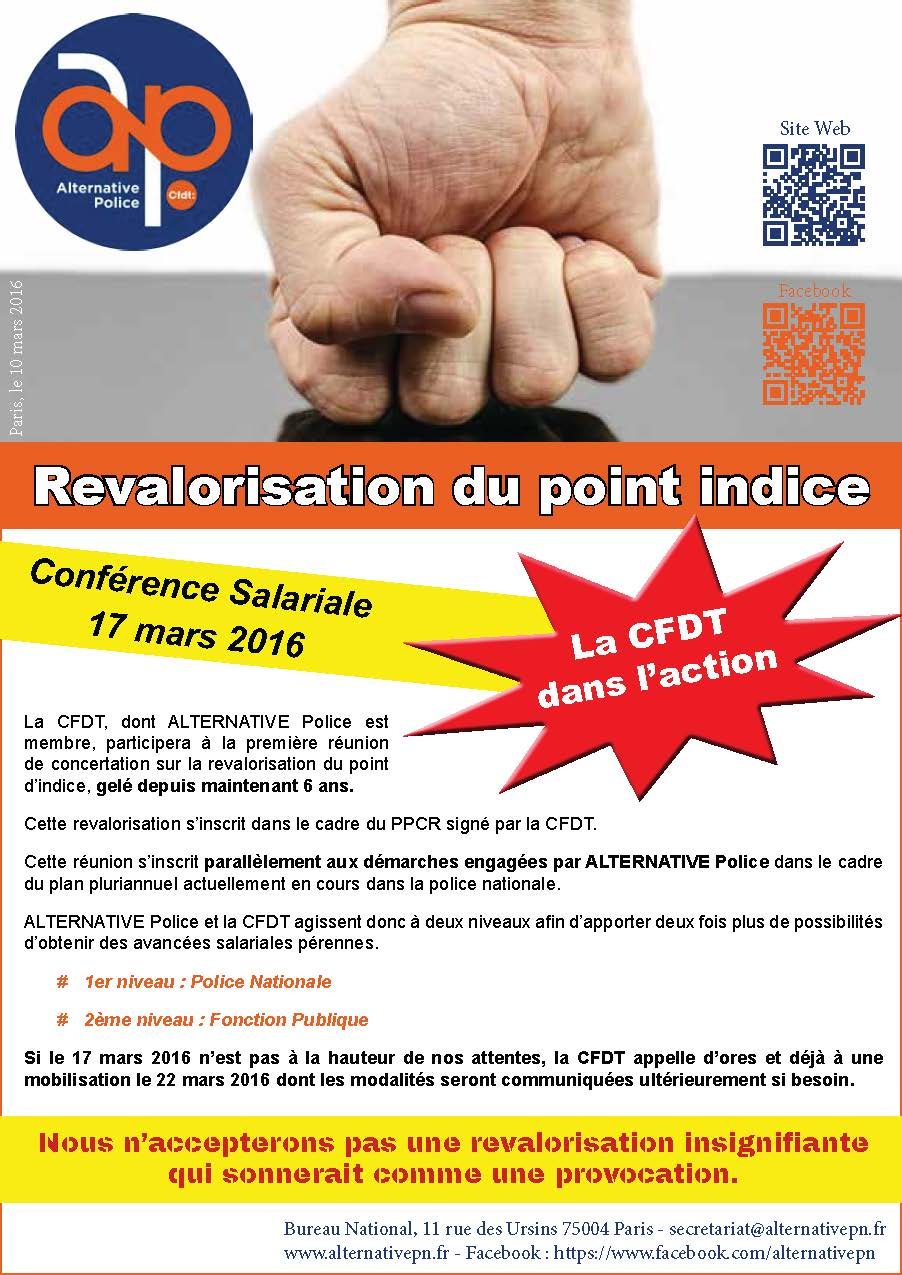 Revalorisation Du Point Indice Alternative Police