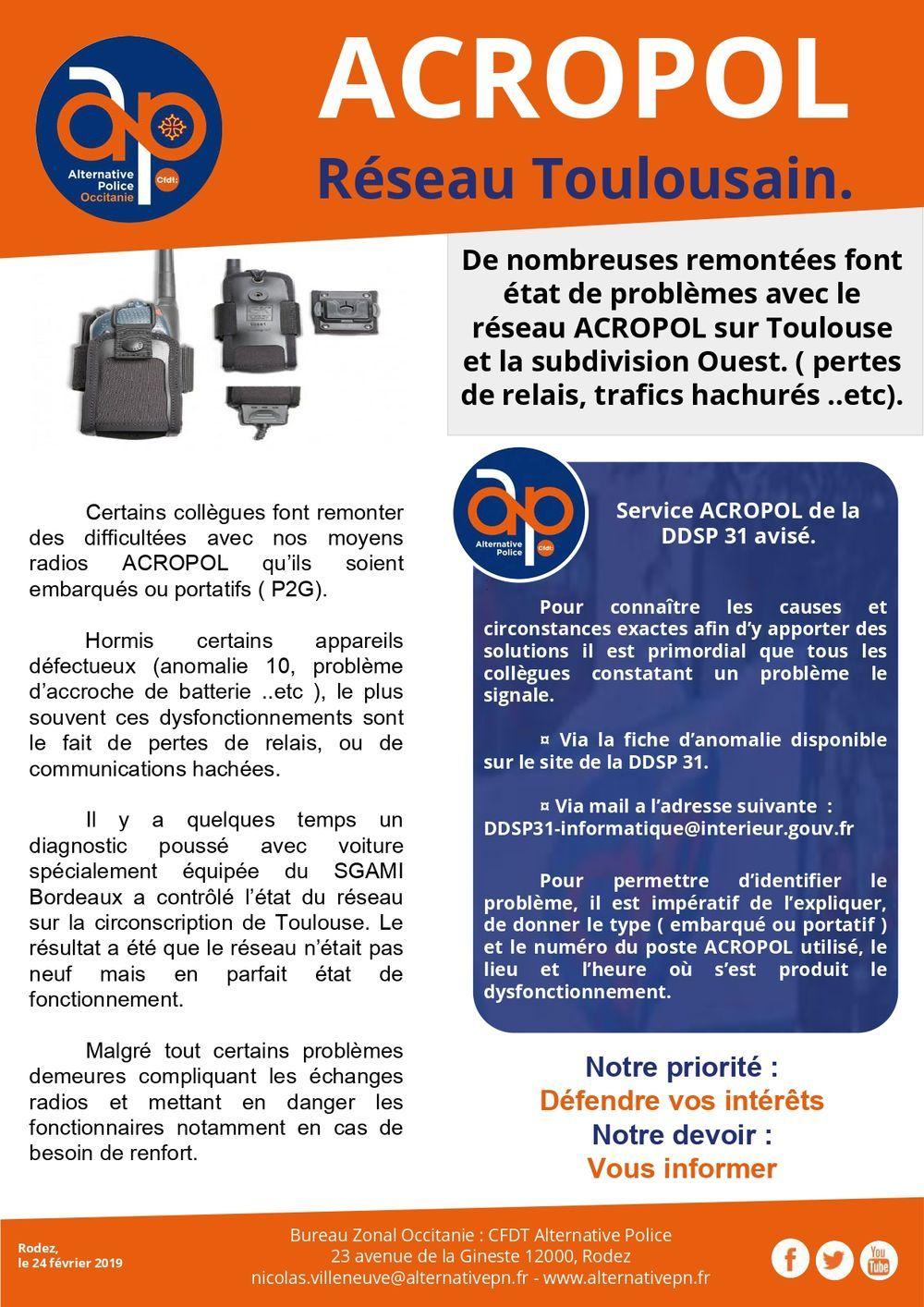 ACROPOL Réseau Toulousain.
