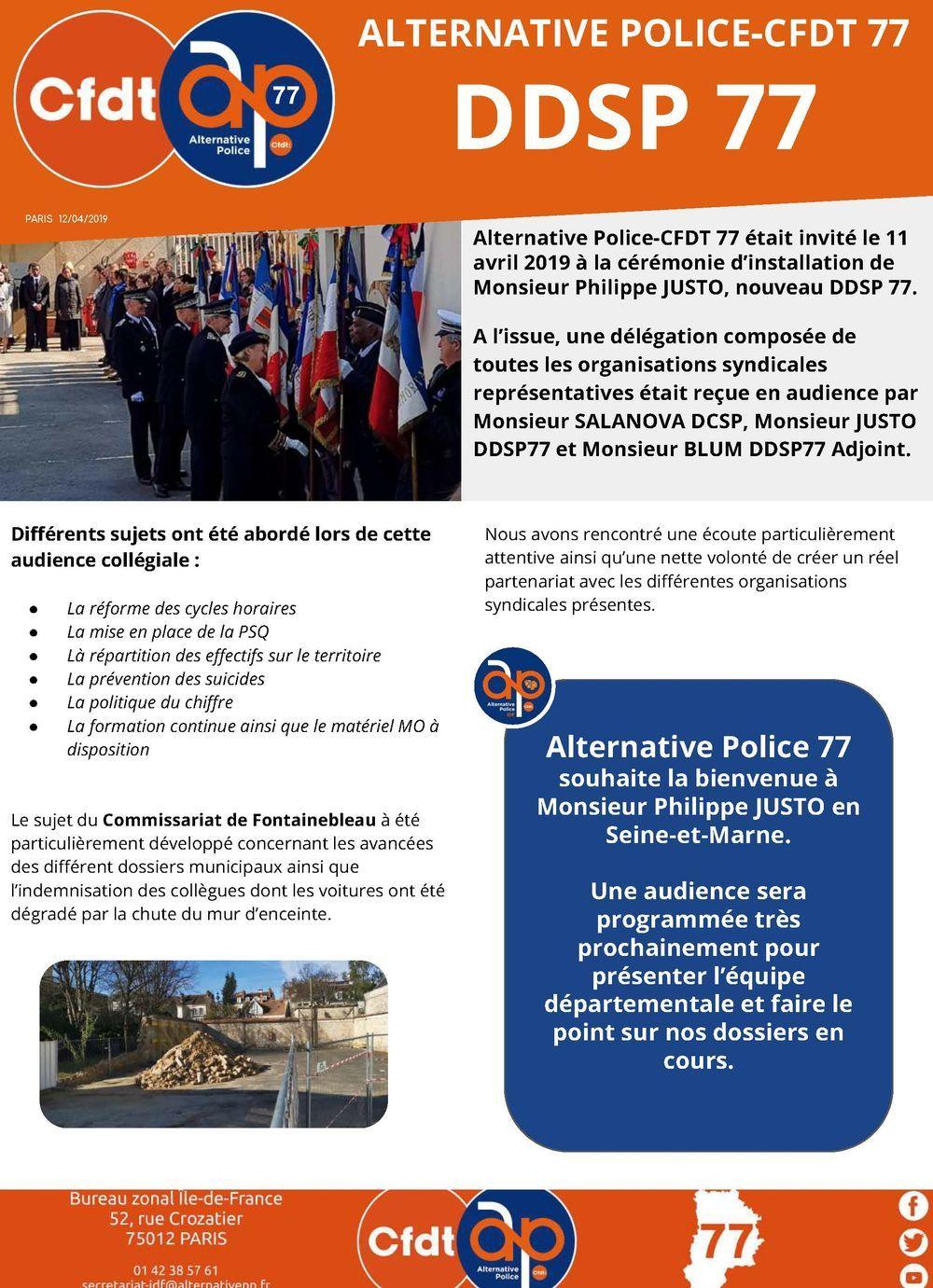 ALTERNATIVE POLICE-CFDT 77