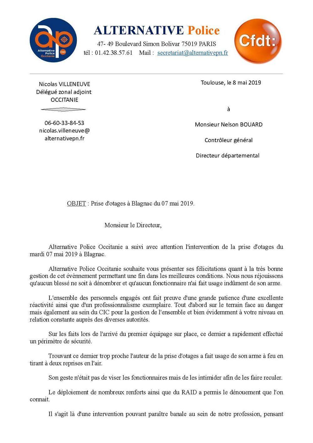 Prise d'otages à Blagnac du 07 mai 2019.
