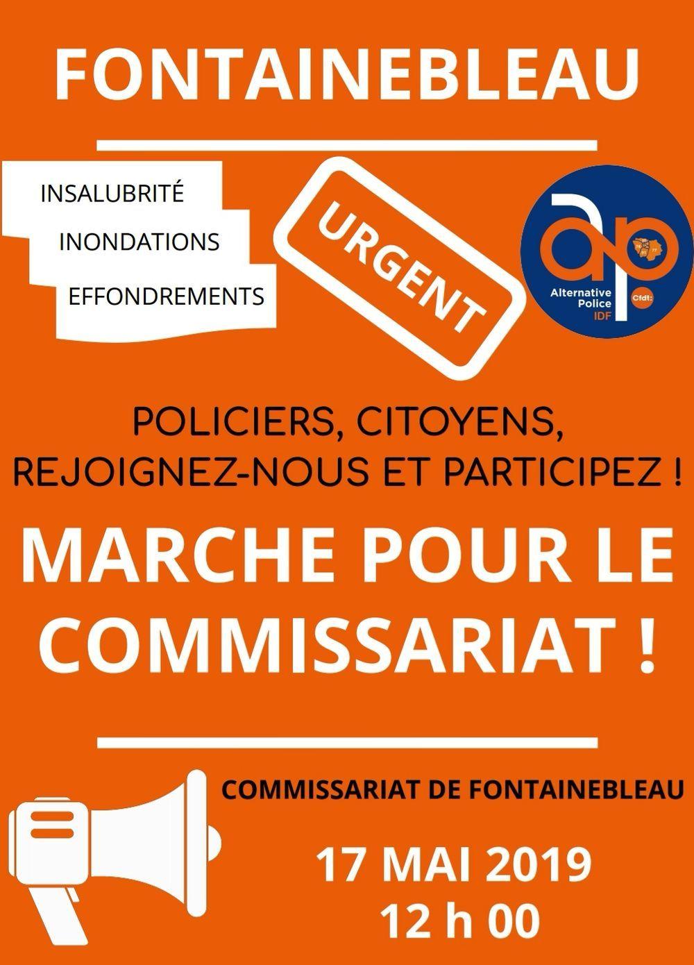 Fontainebleau : marche pour le commissariat
