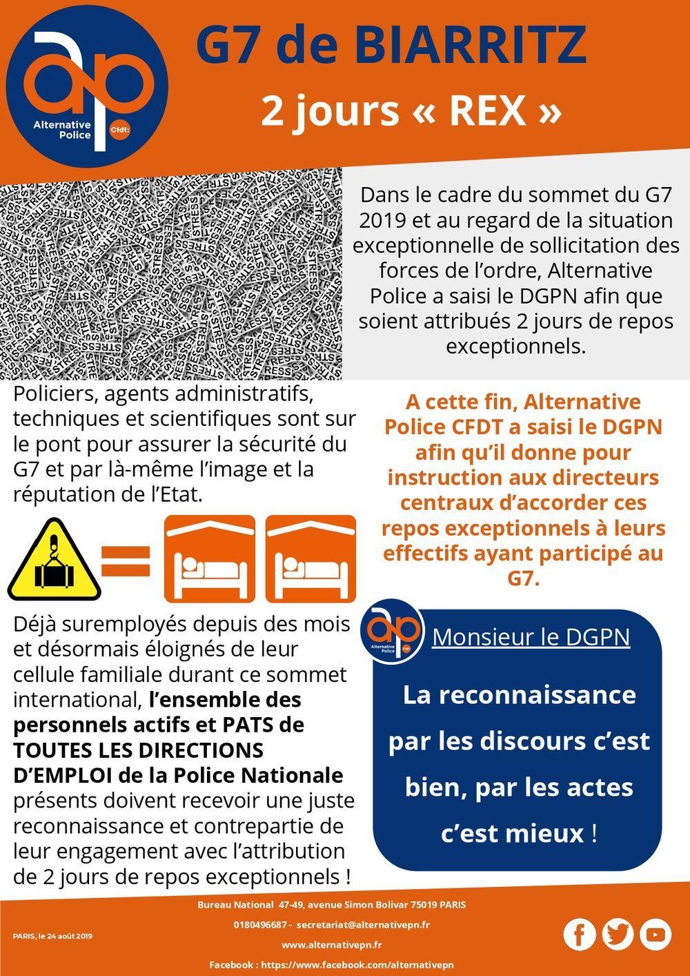 G7 de BIARRITZ 2 jours « REX »