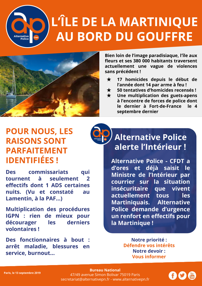 L'ÎLE DE LA MARTINIQUE AU BORD DU GOUFFRE