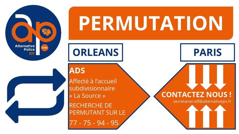 Permutation ADS Orléans - IDF (75 77 94 95)