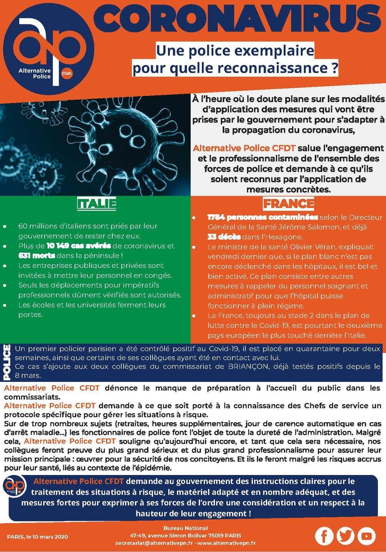 Coronavirus : Une police exemplaire pour quelle reconnaissance