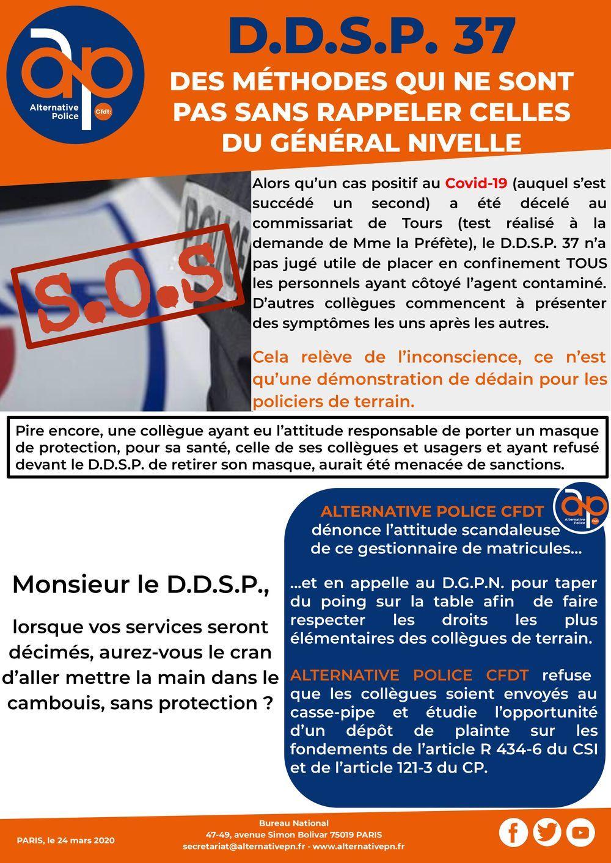 D.D.S.P. 37 - Des méthodes qui ne sont pas sans rappeler celles du Général Nivelle