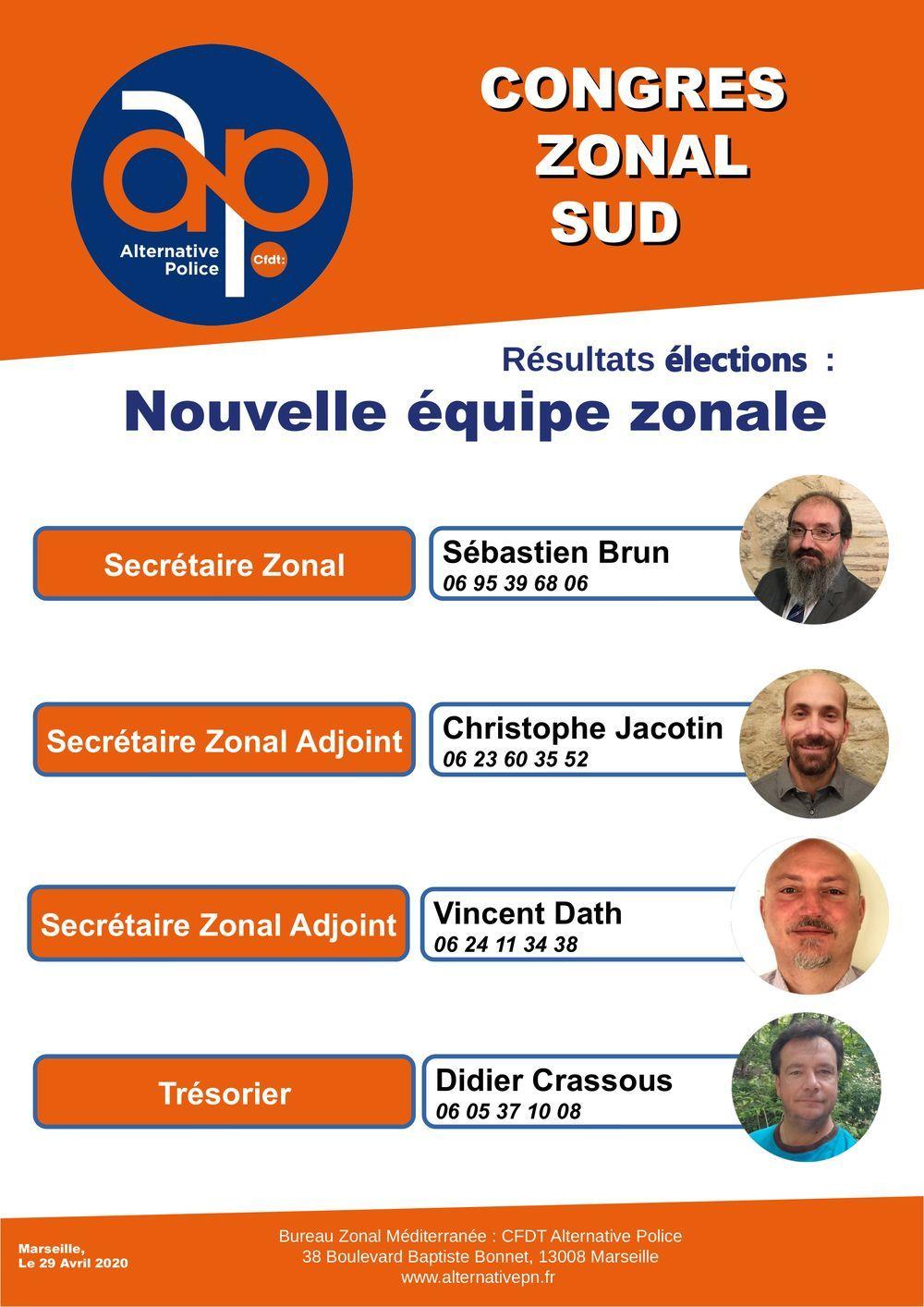 Bureau Zonal Sud : nouvelle équipe !!