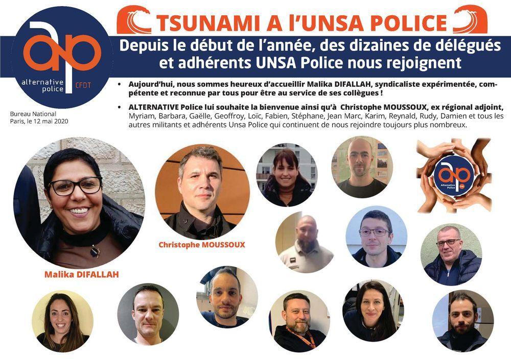 Tsunami à l'UNSA Police (suite)