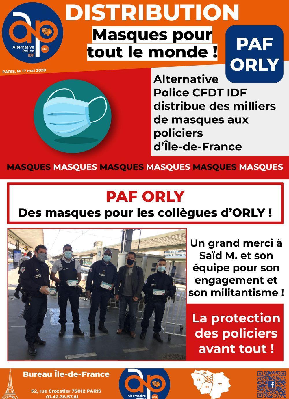 PAF ORLY : Distribution de masques pour tout le monde !