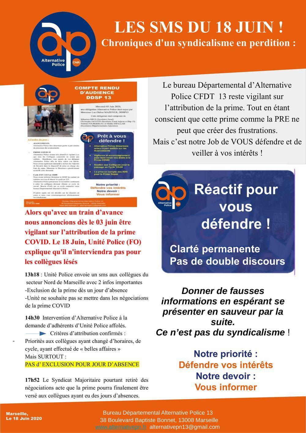 Les SMS du 18 juin : les chroniques d'un syndicalisme en perdition !