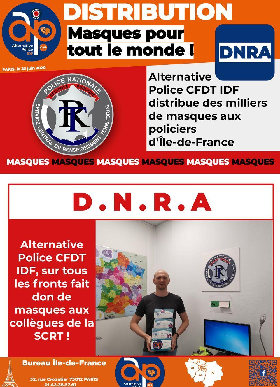 Distribution à la DNRA : des masques pour tout le monde !