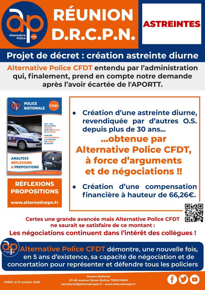 Réunion DRCPN : Création de l'astreinte diurne !