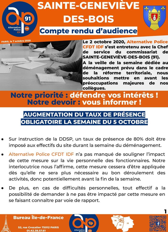 CRA Sainte-Geneviève-des-Bois : Compte-rendu d'audience