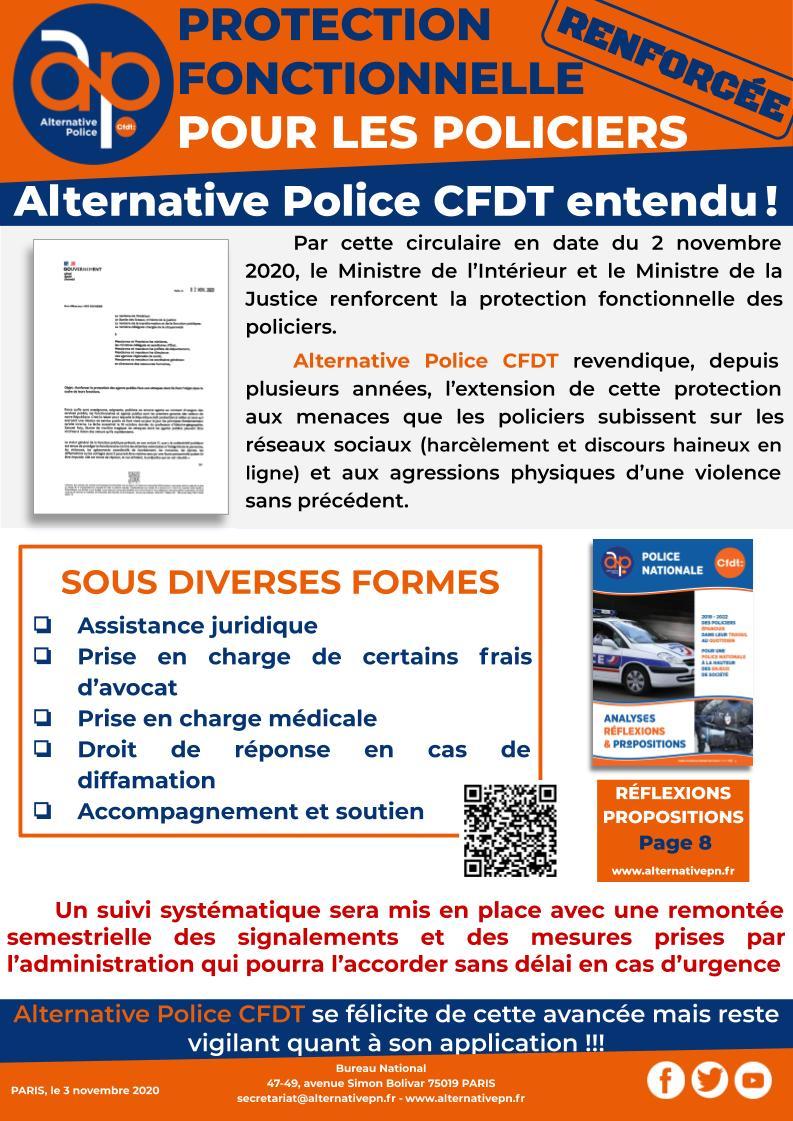 Protection fonctionnelle renforcée pour les policiers