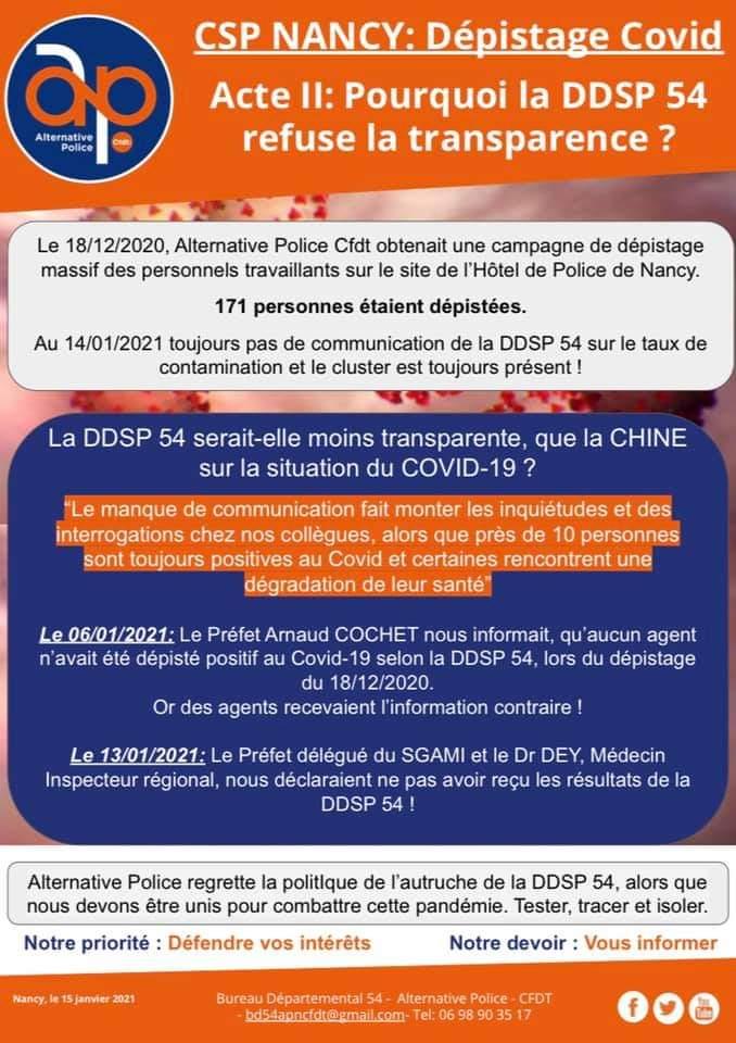 CSP Nancy : Pourquoi la DDSP 54 refuse la transparence ?