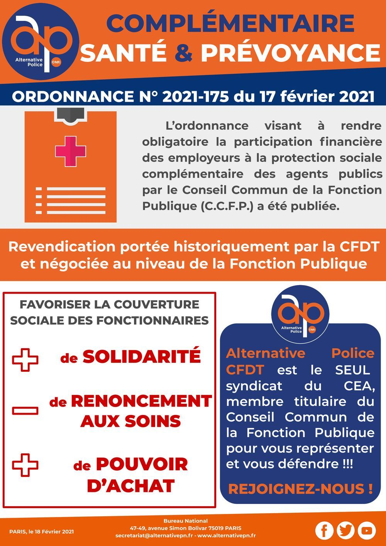 Complémentaire santé et prévoyance : ordonnance N°2021-175 du 17 février 2021