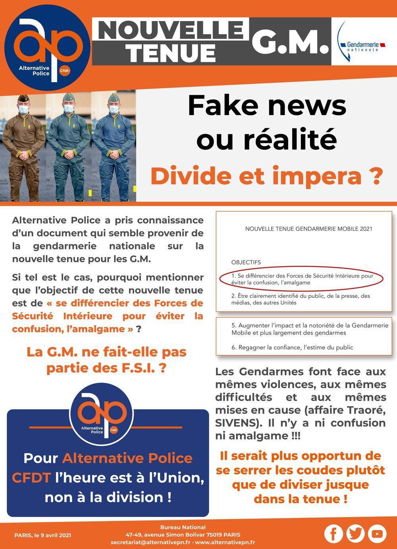 Nouvelle tenue G.M. : Fake news ou réalité !