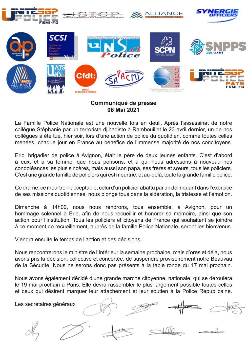 Communiqué de presse Intersyndicale du 6 mai 2021