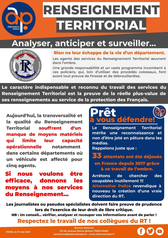 Renseignement Territorial : analyser, anticiper et surveiller