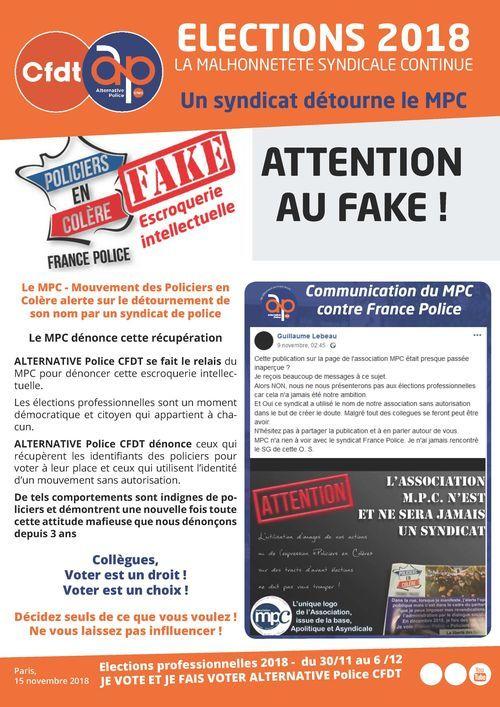 Fake news : détournement du nom MPC
