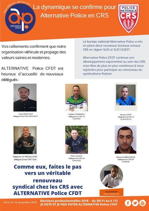 Ralliements CRS partout en France